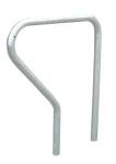 Anlehnbügel -Krefeld- Ø 42 mm aus Stahl, Höhe 800 mm (Montage: zum Einbetonieren (Art.Nr.: 11023))