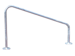 Anlehnbügel -Remscheid- Ø 42 mm aus Stahl, Höhe 800 mm (Montage: zum Einbetonieren (Art.Nr.: 11043))
