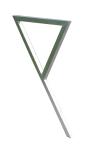 Anlehnbügel -Siegen- 35 x 35 mm aus Stahl, Höhe 800 mm (Montage: zum Einbetonieren (Art.Nr.: 11052))