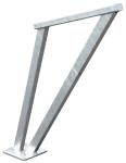 Anlehnbügel -Valeria- aus Stahl, Höhe über Flur 850 mm (Farbe: feuerverzinkt (Art.Nr.: 36539))