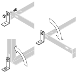 Bodenmontage-Winkel (2er Set) f. Fahrradständer
