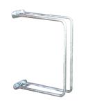 Einzelparker / Fahrradständer -Ankara-, zur Wandbefestigung 90°, Reifenbreite bis 43 mm