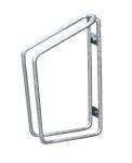 Einzelparker / Fahrradständer -Köln- für Wand- oder Bodenbefestigung, Reifenbreite bis 48 mm (Montage/Einstellwinkel/Höhe: zur Wandbefestigung/45°/350mm (Art.Nr.: 10838))