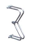 Einzelparker / Fahrradständer -Liverpool-, zur Wandbefestigung 90°, Reifenbreite bis 43 mm