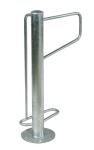 Einzelparker / Fahrradst&auml;nder -Madrid-, Edelstahl, ein- oder zweiseitige Radeinst., ADFC Qualit&auml;t (Einstellplatz/Anordnung/Montage/Material:  <b>1er einseitig</b> zum Einbetonieren<br>matt gestrahlt (Art.Nr.: 15904))