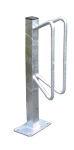 Einzelparker / Fahrradständer -Nordstrand-, Radeinstellung ein- oder zweiseitig (Befestigung/Radeinstellung: für Wandbefestigung/gerade,90° (Art.Nr.: 421.55))