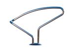 Einzelparker / Fahrradständer -Perseus- aus Edelstahl, zum Einbetonieren (Modell: ohne Abdeckplatte (Art.Nr.: 25442))