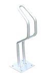 Einzelparker / Fahrradständer -Vilnius- aus Stahl, Reifenbreite bis 48 mm (Montage: zum Einbetonieren (Art.Nr.: 10833))