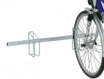 Fahrradklemme / Fahrradst&auml;nder -Monaco Classic-, einseitige Radeinstellung, Radabstand 500 mm (Einstellplatz/L&auml;nge/Montage:  <b>2er</b>/1000mm/zur Wandbefestigung (Art.Nr.: 10652))