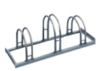 Fahrradständer Edelstahl-Bogenparker Typ 5200 E, einseitige Radeinstellung 90° (Radstände/Länge: 2er / 700mm (Art.Nr.: 5252e))