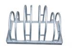 Fahrradständer Edelstahl-Bogenparker Typ 5200 E, zweiseitige Radeinstellung 90° (Radstände/Länge: 4er / 700mm (Art.Nr.: 5354e))