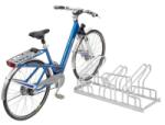 Fahrradständer Edelstahl-Bügelparker Typ 2200 E, zweiseitige Radeinstellung 90° (Radstände/Länge: 4er / 700mm (Art.Nr.: 2354e))