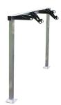 Fahrradst&auml;nder -Monza- mit Lenkerhaltersystem, ein- und zweiseitige Radeinstellung (L&auml;nge/Einstellung/Tiefe/Stellpl&auml;tze/Befestigung:  <b>1500mm einseitig</b><br>370mm, 3 Stellpl&auml;tze<br>zur Wandbefestigung (Art.Nr.: 15619))