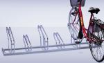 Fahrradst&auml;nder -Nil-, Reihenanlage, verschwei&szlig;t (Radst&auml;nde/Einstellwinkel/Radeinstellung/L&auml;nge/Radabstand/Anordnung:  <b>2er 90&deg;,einseitig</b><br>700mm/350mm/hoch-tief (Art.Nr.: 10725))