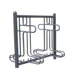 Fahrradst&auml;nder -Rom-, ein- oder zweiseitige Radeinstellung, ADFC Qualit&auml;t (Einstellplatz/Radeinstellung/L&auml;nge/Montage:  <b>2er einseitig</b> 1260mm/zum Aufschrauben (Art.Nr.: 10443))