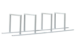 Reihenanlehnb&uuml;gel -Belgrad- aus Stahl, H&ouml;he 600 mm (Einstellplatz/L&auml;nge:  <b>2er</b> 1400mm (Art.Nr.: 10631))