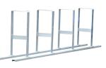 Reihenanlehnb&uuml;gel -Bukarest- aus Stahl, H&ouml;he 800 mm (Einstellplatz/L&auml;nge:  <b>2er</b>/1400mm (f&uuml;r 2 bzw. 4 R&auml;der) (Art.Nr.: 10627))