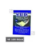 SCRUBS Edelstahl-Reinigungstücher -Single Pack-, VE 100 Stück