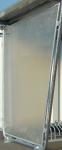 Seitenwände links / rechts aus naturtransparenten Polyesterplatten
