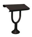 Standlehne -Norsk- aus Stahl, mit eckiger Standfläche (Farbe: Stein HGS grau (Art.Nr.: 36599))