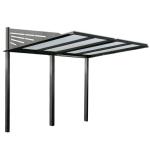 Überdachungsystem -Rufus- aus Stahl, zum Einbetonieren