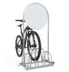 Werbe-Fahrradständer Typ RW 5000 mit Laufrollen (Stellplätze/Druck: 4er / mit Digitaldruck einseitig (Art.Nr.: rw5454-02))