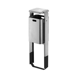 Abfallbehälter -City 200- 40 Liter aus Stahl, mit Abdeckung, wahlweise mit Ascher