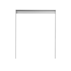 Anlehnbügel 80 x 12 mm aus Stahl mit Unterzug, Höhe 1200 mm, zum Einbetonieren (Breite/Farbe:  <b>450mm</b>/ ohne Farbe (Art.Nr.: 4152.045))