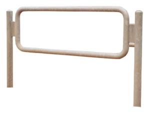 Anlehnbügel / Absperrbügel -Amrum- Ø 48 mm aus Stahl, Höhe 900 mm, zum Einbetonieren (Ausführung: Anlehnbügel/Absperrbügel -Amrum- Ø 48 mm aus Stahl, Höhe 900 mm, zum Einbetonieren (Art.Nr.: 422.10))