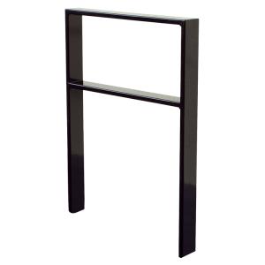 Anlehnbügel / Absperrbügel -Apelland- 50 x 12 mm, Stahl, Höhe 800 mm, mit Querholm, zum Einbetonieren (Breite/Farbe:  <b>450mm</b>/ohne Farbe (Art.Nr.: 451.045))