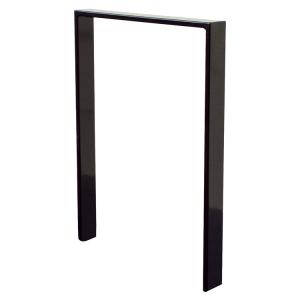 Anlehnbügel / Absperrbügel -Apelland- 50 x 12 mm aus Stahl, Höhe 800 mm, zum Einbetonieren (Breite/Farbe:  <b>450mm</b>/ohne Farbe (Art.Nr.: 450.045))