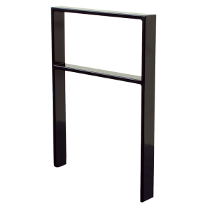 Anlehnbügel / Absperrbügel -Apelland- 80 x 12 mm aus Stahl, Höhe 800 mm, mit Querholm (Breite/Farbe:  <b>450mm</b>/ohne Farbe (Art.Nr.: 453.045))