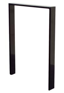 Anlehnbügel / Absperrbügel -Apelland- 80 x 12 mm aus Stahl, Höhe 800 mm, zum Einbetonieren (Breite/Farbe:  <b>450mm</b>/ohne Farbe (Art.Nr.: 452.045))