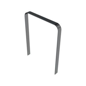 Anlehnbügel / Absperrbügel -Aratora- 80 x 10 mm aus Stahl, Höhe 800 mm, zum Einbetonieren (Breite/Farbe: 850 mm / ohne Farbe (Art.Nr.: 40483))