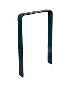 Anlehnbügel / Absperrbügel -Baltrum- 80 x 12 mm aus Stahl, Höhe 800 mm, zum Einbetonieren (Breite/Farbe:  <b>750mm</b>/ohne Farbe (Art.Nr.: 4052.075))