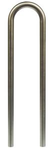 Anlehnbügel / Absperrbügel -Bern- Ø 60 mm aus Stahl, Höhe 1000 mm, zum Einbetonieren (Farbe: ohne Farbe (Art.Nr.: 465.70))