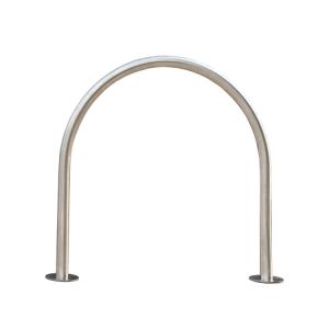 Anlehnbügel / Absperrbügel -Bow- Ø 48 mm aus Edelstahl, zum Aufdübeln (Ausführung: Anlehnbügel/Absperrbügel -Bow- Ø 48 mm aus Edelstahl, zum Aufdübeln (Art.Nr.: 39465))