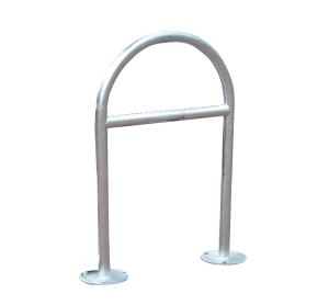 Anlehnbügel / Absperrbügel -Diveria- Ø 42 oder 48 mm aus Stahl, Höhe 1000 mm (Rohr-Ø/Breite/Gesamthöhe/Querholm/Montage: Ø42mm/265mm/1300mm<br> <b>ohne Querholm</b><br>zum Einbetonieren (Art.Nr.: 10959))