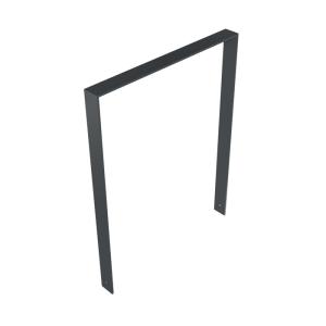 Anlehnbügel / Absperrbügel -Frankonia- 80 x 10 mm aus Stahl, Höhe 800 mm, zum Einbetonieren (Breite/Farbe: 850 mm / ohne Farbe (Art.Nr.: 40460))