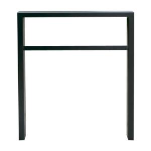 Anlehnbügel / Absperrbügel -Spiekeroog- 60 x 40 mm aus Stahl, Höhe 800 mm, mit Querholm (Breite/Farbe:  <b>450mm</b>/ohne Farbe (Art.Nr.: 457.045))