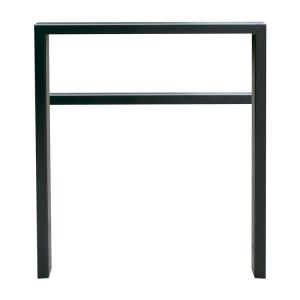 Anlehnbügel / Absperrbügel -Spiekeroog- 80 x 20 mm aus Stahl, Höhe 800 mm, mit Querholm, zum Einbetonieren (Breite/Farbe:  <b>450mm</b>/ohne Farbe (Art.Nr.: 459.045))