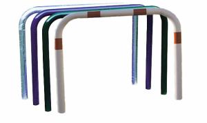 Anlehnbügel / Absperrbügel -Sylt- Ø 48 mm aus Stahl, ohne Farbe, weiß / rot oder nach RAL