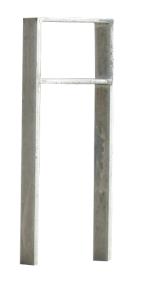 Anlehnbügel / Absperrbügel -Trier- 120 x 15 mm aus Stahl, Höhe 800 mm (Gesamthöhe/Montage: 1100mm/zum Einbetonieren (Art.Nr.: 10946))