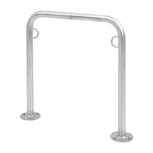 Anlehnbügel / Absperrbügel -Trust- Ø 48 mm, Höhe 800 mm, aus Stahl (Länge/Montage/Lieferung: 750mm/zum Einbetonieren<br>zerlegt in 2 Teile (Art.Nr.: trust-10))
