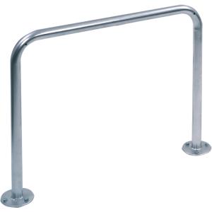 Anlehnbügel / Absperrbügel -Typ 9100- Ø 48 mm aus Stahl, Höhe 800 mm (Breite/Gesamthöhe/Montage:  <b>1000mm</b>/1150mm<br>zum Einbetonieren (Art.Nr.: 9110))