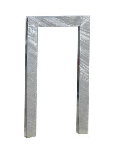 Anlehnbügel / Absperrbügel -Ulm- 80 x 40 mm aus Stahl, Höhe 800 mm (Breite/Gesamthöhe/Montage: 500mm/1100mm<br>zum Einbetonieren (Art.Nr.: 10937))