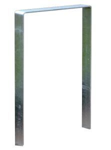 Anlehnbügel / Absperrbügel -Wolfsburg- 80 x 8 mm aus Stahl, Höhe 800 mm (Gesamthöhe/Montage: 1100mm/zum Einbetonieren (Art.Nr.: 10948))