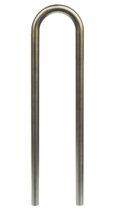 Anlehnb&uuml;gel / Absperrb&uuml;gel &Oslash; 48 mm aus Edelstahl, Breite 300 mm (Befestigung: zum Einbetonieren<br>Gesamth&ouml;he ca. 1200mm (Art.Nr.: 449.30))