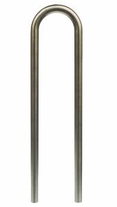Anlehnbügel / Absperrbügel Ø 48 mm aus Edelstahl, Breite 300 mm, Höhe 800 mm (Befestigung: zum Einbetonieren<br>Gesamthöhe ca. 1200mm (Art.Nr.: 449.30))