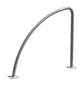 Anlehnbügel -Cycle- Ø 40 mm aus Stahl, Höhe 800 oder 900 mm (Farbe: ohne Farbe (Art.Nr.: 19603))